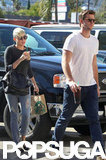 Miley Cyrus and Liam Hemsworth made a stop at Starbucks together.