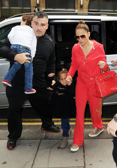 Jennifer Lopez held hands with Emme Anthony while Max Anthony got a lift.