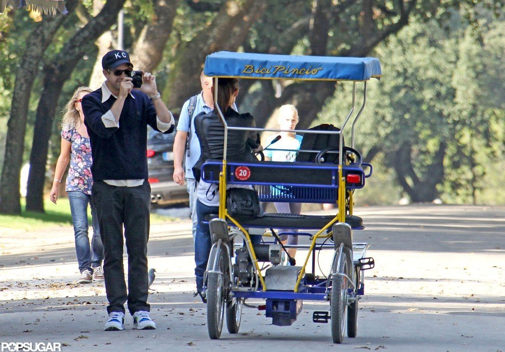 Jason Sudeikis snapped a photo of Olivia Wilde riding the bike.