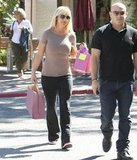 Britney Spears carried shopping bags.