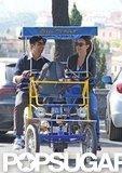Olivia Wilde and Jason Sudeikis took a ride through Rome.