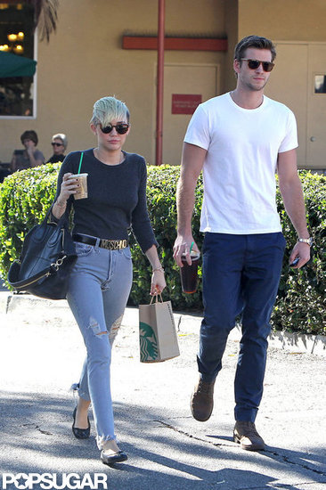 Miley Cyrus and Liam Hemsworth picked up coffees together.