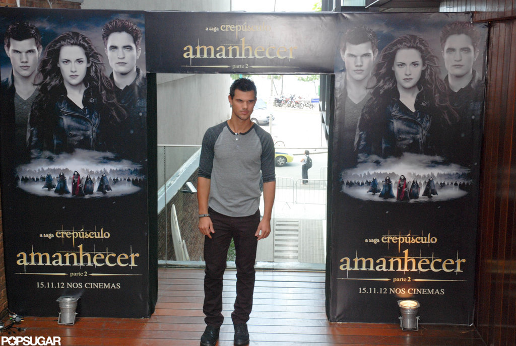 Taylor Lautner promoted Breaking Dawn Part 2 in Rio de Janeiro.