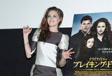 Kristen Stewart smiled at an event to promote Breaking Dawn — Part 2 in Japan.