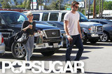 Miley Cyrus followed fiancé Liam Hemsworth out of Starbucks.