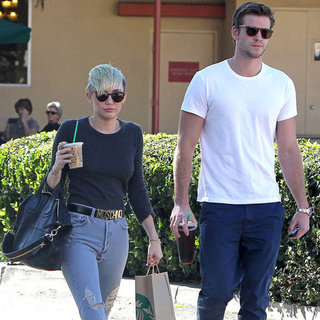 Miley Cyrus and Liam Hemsworth at Starbucks | Pictures in LA
