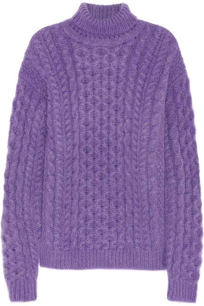 Don't you just want to curl up by the fire in this Christopher Kane Cable-Knit Turtleneck Sweater ($1,395).