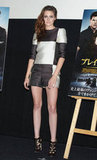 Kristen is the first celebrity to don one of Louis Vuitton's Spring 2013 looks for a red carpet event.