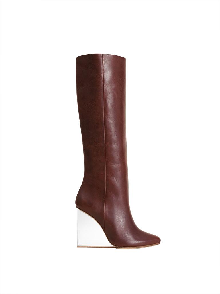Plexi wedge boot ($399)