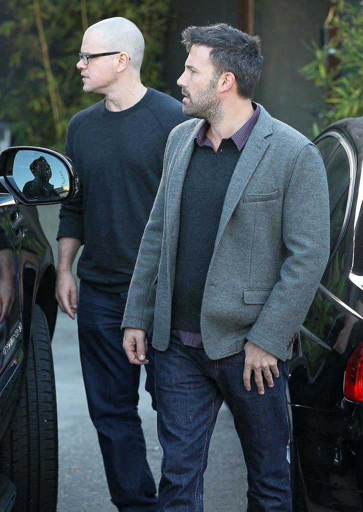 Ben Affleck and Matt Damon stepped out after a meeting in LA.