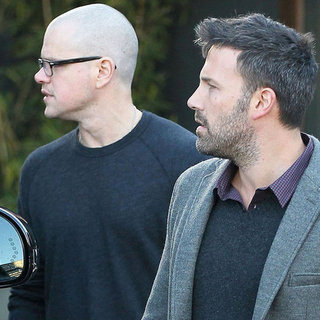 Matt Damon and Ben Affleck at a Meeting | Pictures