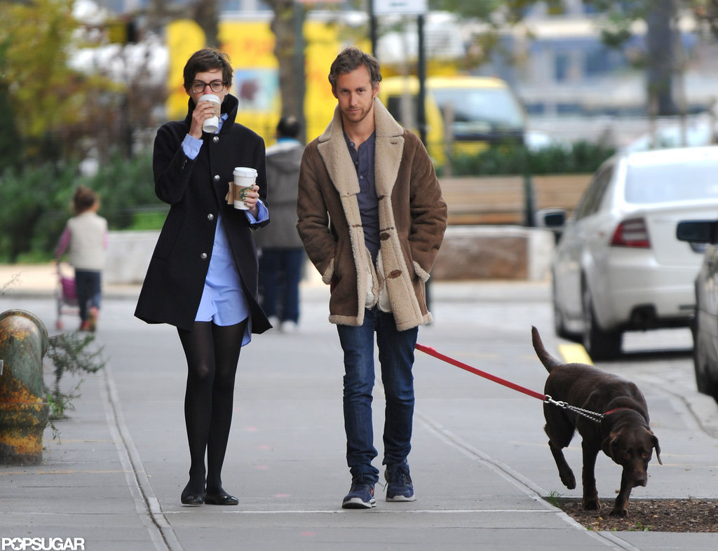 Anne Hathaway stepped out in Brooklyn with Adam Shulman.