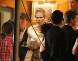 Nicole Kidman filmed scenes for her latest project, Grace of Monaco.