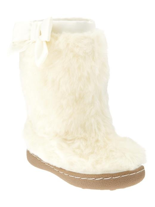 Gap Faux-Fur Bow Boots