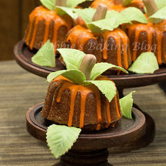 Just in Time for Autumn Mini Pumpkin Bundt Cakes