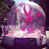 BellaSugar ed Alison visited the Avon bauble for breast cancer in Sydney's Martin Place.
