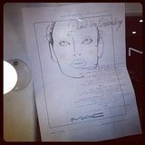 Alison got hold of some makeup face charts from the Diane von Furstenberg show.