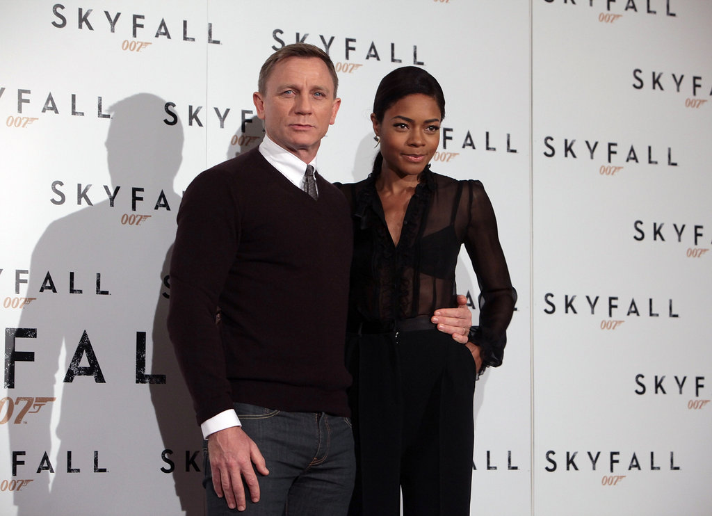 Daniel Craig and Naomie Harris hit the red carpet together.