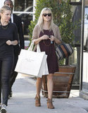 Reese Witherspoon and a friend shopped in Beverly Hills.