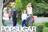 Gwyneth Paltrow and her family walked to school in LA.