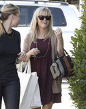 Reese Witherspoon chatted with a friend in Beverly Hills.