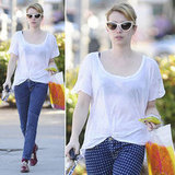Channel Emma Roberts's casual style with your own polka-dotted jeans.
