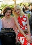 Milla Jovovich and Jaime King showed off matching shades of red lipstick.
