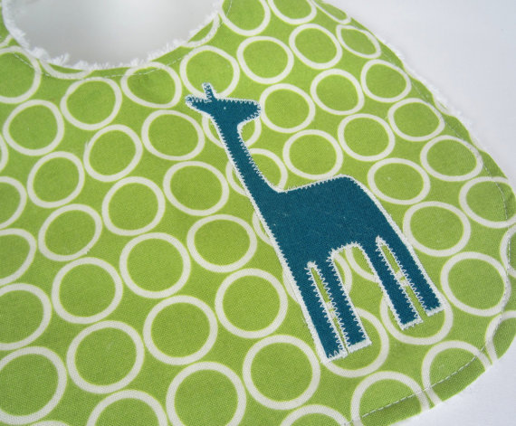 Zoo Giraffe Bib by Ava Elliot