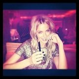 Jennifer Hawkins enjoyed a cocktail in Melbourne. Source: Instagram user jenhawkins_