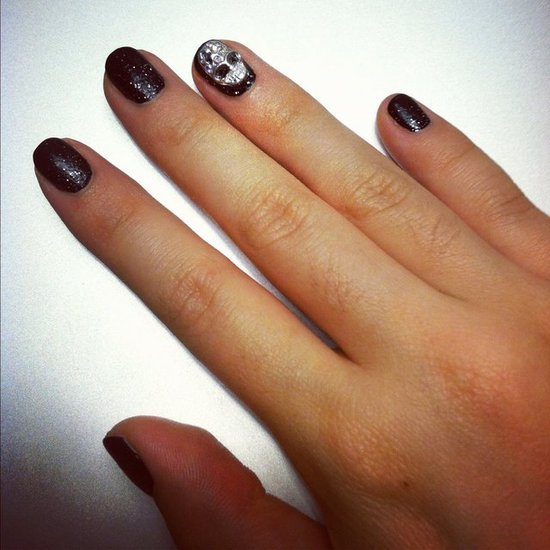 How to Create 3D Skull Nail Art For Halloween