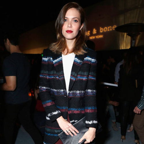 Mandy Moore Wearing Striped Blazer
