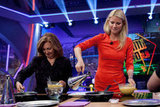 Gwyneth Paltrow filmed a cooking segment on Spanish talk show El Hormiguero.
