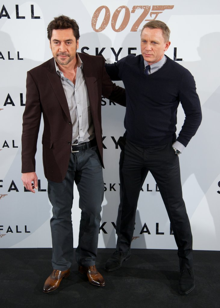 Javier Bardem and Daniel Craig shared a hug.
