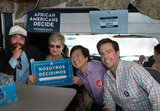 Zach Galifianakis, Ed Helms, and Ken Jeong met with Las Vegas voters.  Source: Facebook user Obama For America