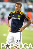 David Beckham played soccer for the LA Galaxy in LA.
