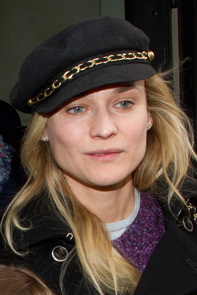 Diane Kruger kept a cap on in Paris.