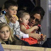 Victoria and Harper Beckham at David&#039;s Soccer Game | Picture