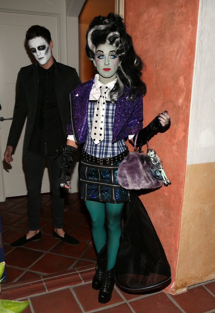 Shenae Grimes wore a wig and face paint for Matthew Morrison's LA party on Sunday.