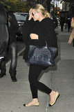 Ashley Olsen carried a crocodile bag.