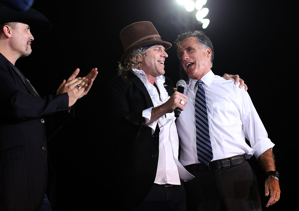 Musicians Big Kenny and John Rich went to an Ohio campaign rally for Mitt Romney.
