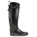 We love the slightly sexier feel to this equestrian-meets-sultry harnessed Chinese Laundry rain boot ($59). Plus, the slim shape of the leg means you won't have to bunch up your jeans to wear them.