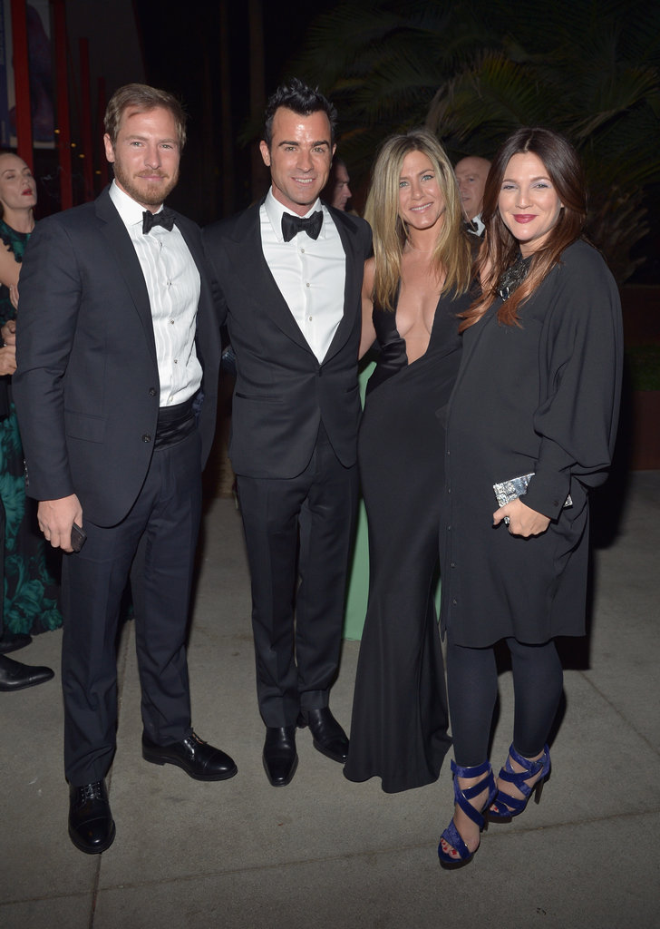 Will Kopelman, Justin Theroux, Drew Barrymore & Jennifer Aniston