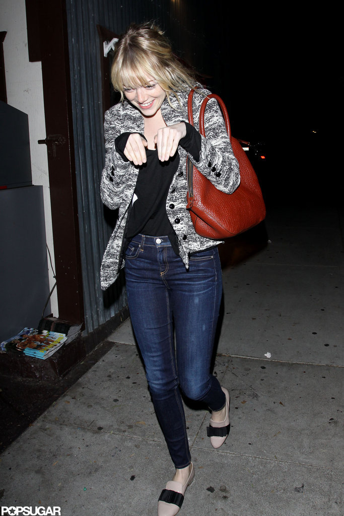 Emma Stone acted like an adorable creature in LA.