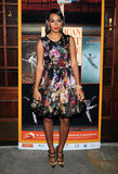 Solange Knowles spent a night at the ballet in a fresh floral (and cherub-print) Dolce & Gabbana cocktail dress, which she paired with sparkly DVF heels.
