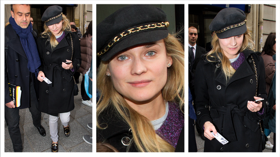 Beat the Cold With a Stylish Trench Coat à la Diane Kruger