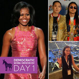 Day 1 on the Scene at the DNC: Michelle Obama Wows and Democrats Party