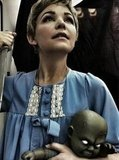 Rosemary and Baby Ginnifer Goodwin went old-school horror to be Rosemary from Rosemary's Baby, demon child and all. Source: Twitter user ginnygoodwin