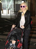 Gwen Stefani wore pink sunglasses in London.