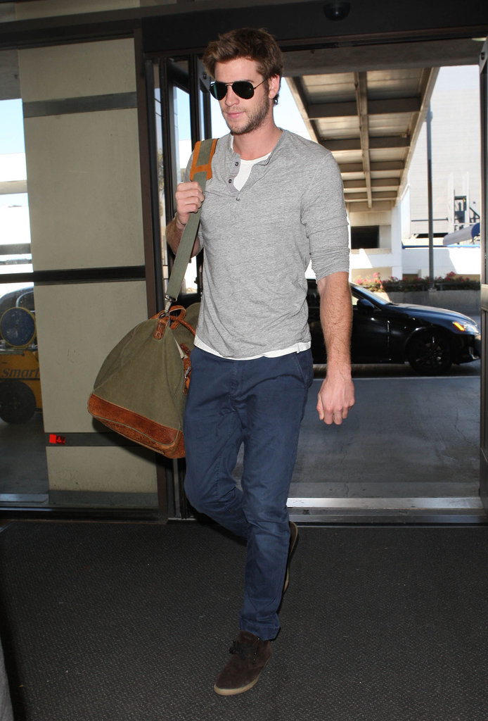 Liam Hemsworth walked in LA.