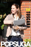 Jennifer Garner carried a grey bag while out in LA.
